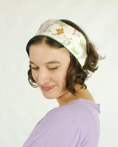 Organic Cotton Sateen Floral Headband